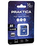 Praktica 16 GB SDHC Class 10 High Speed Full HD 80 MBs Memory Card