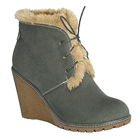 Pixie Emily, Ladies Boots (5, Grey)