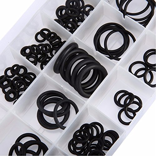 225PCS flessibile in gomma nera O-ring rondella condizionatore d' aria per auto guarnizione di tenuta o ring assortimento kit con custo