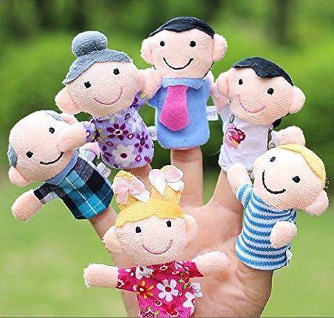 Lot de marionnettes de doigt, style