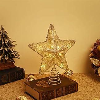 Lewondr Estrella de Punta de Árbol, Estrella Chispeante Brillantes