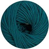 50 gr. Cora Fb. 14 meerblau, Neu, Strickwolle, Merinowolle, Online, Linie 20