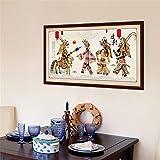 Pegatinas de paredEstilo chino autoadhesivo sala de estar del papel pintado fondo del sofá pared teatro de la sombra decoración del sitio del estilo chino decoración papel pintado del marco 90 * 60CM