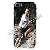 Coque-swag - iPhone 7/8 - Coque Personnalisable - Contour Souple Blanc