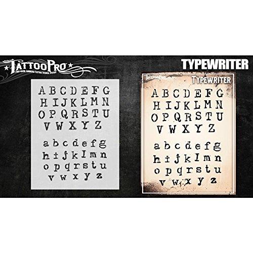 Tattoo Pro Schablonen–Schreibmaschinenschrift