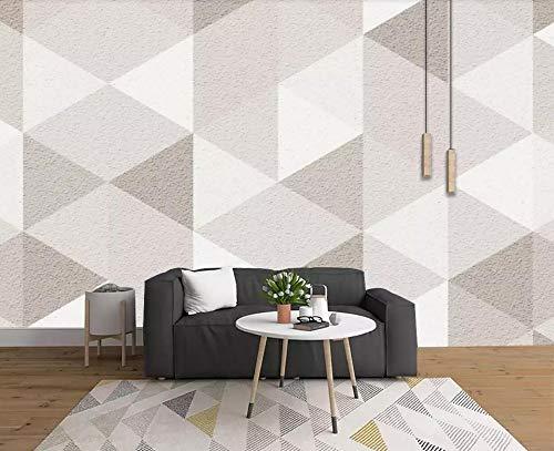 Carta Da Parati 3D Fotomurali Elegante Triangolo Geometrico Fotomurali 3D Effetto Wallpaper Murale Decorazione