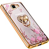 LOXXO 360 Degree Rotating Back Cover for Samsung Galaxy J7 Max (Rose Gold)