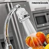InnovaGoods ECOGRIFO mit Filter Luftreiniger Wasser, PP und PC, Transparent und Silber, 6x 6x 8cm