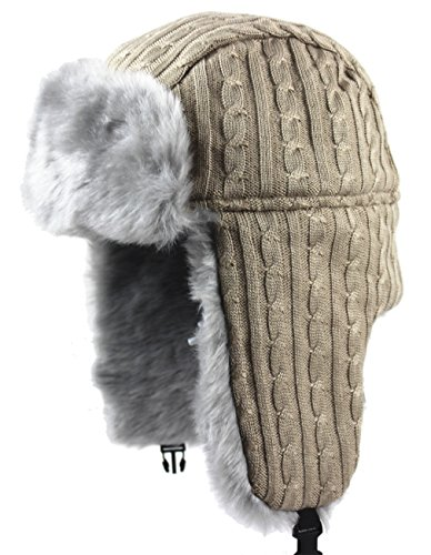 Tina Unisex Winter Warm Earflap Bomber Hat Russian Ushanka