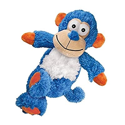 Kong Cross Knots Plush Squeaky Dog Chew Toy - Monkey