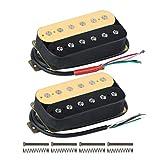 FLEOR Double Coil Humbucker Alnico 5Magnet Gitarre Humbucker Tonabnehmer für E-Gitarre Teile Ersatz Neck+Bridge zebra
