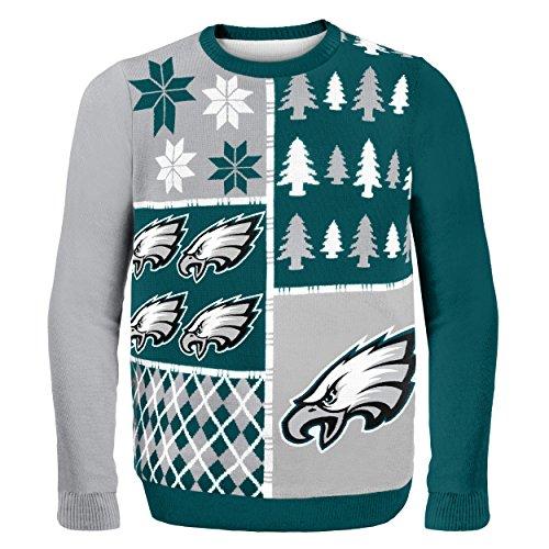 Klew NFL Pullover Busy Block, Herren, SWTNFUGYBBLKPEM, Philadelphia Eagles, M -