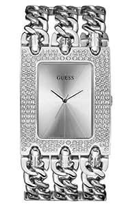 Guess Damen-Armbanduhr Analog Quarz Edelstahl W13097L1