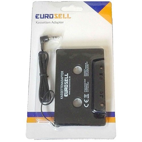 Adaptateur lecteur cassette pour voiture - Avec jack de 3,5 mm - Pour téléphone portable, tablette, smartphone, iPhone, iPod, MP3-