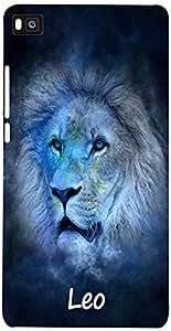 PRINTVISA Zodiac Leo Case Cover For Huawei Ascend P8
