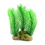 sourcing map 5,9 Zoll Hohes grünes Plastikbaum Pflanzen Aquarium Dekor Landschaft Ornament