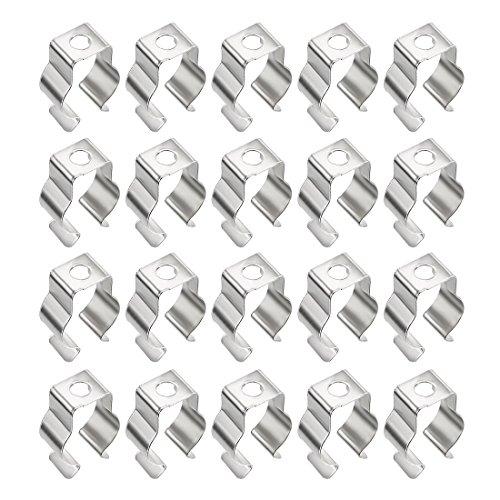 sourcing map 20Pcs T5 Leuchtstoffröhre Lampengestell Lampenständer Clip Steckdose Lampenfuß DE de Juwel-clip