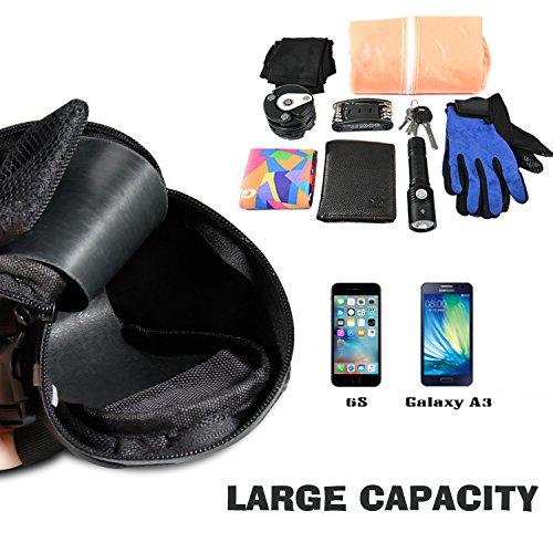 Fahrrad Satteltasche, Ubegood Kompakte Fahrradtasche Befestigungsriemen Aero Wedge Pack Satteltasche Mountainbike Bag für Handy, Werkzeug und Portmonnaie - Schwarz - 5