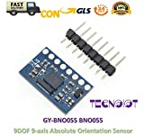 TECNOIOT GY-BNO055 BNO055 9DOF 9-Axis Absolute Orientation Triaxial Geomagnetic Gyroscope