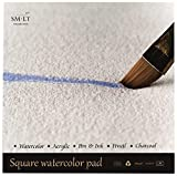 SMLT AS-20(260)Q English Watercolor Pads Quadratischer Aquarellpapier, 260gsm...