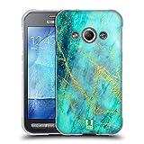 Head Case Designs Wasserfarbe Marmor Glitzer Druecke Soft Gel Hülle für Samsung Galaxy Xcover 3