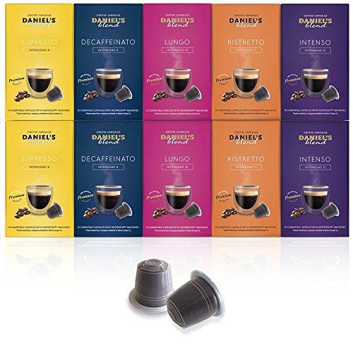 DANIELS BLEND - 100 Cápsulas de Café Compatibles con Máquinas Nespr