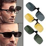 FairytaleMM Driving Nachtsicht Flip-up-Objektiv Coole Brillen Clip auf Objektiv Anti-UV 400