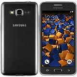 mumbi UltraSlim Hülle für Samsung Galaxy Grand Prime Schutzhülle transparent schwarz (Ultra Slim - 0.55 mm)