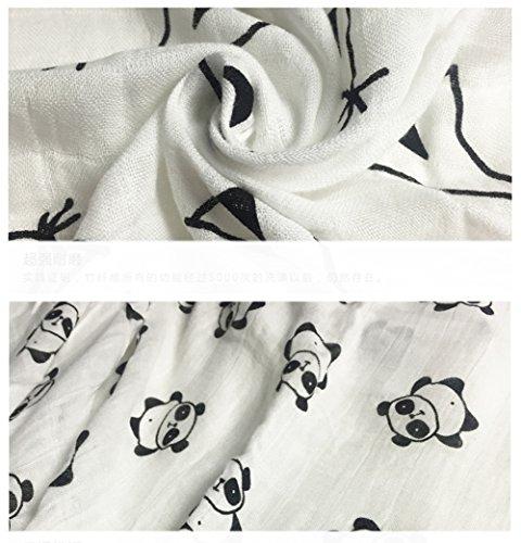 BLUESTAR Wickeltuch aus Musselin Baby Decken, 120x 120cm weiche Baby Wickeltuch aus Musselin Decken Packungen, 2Stück