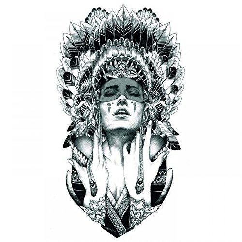 GGSELL Halloween Tattoo für Männer und Frauen Indisches Mädchen (Up Männer Make Halloween)