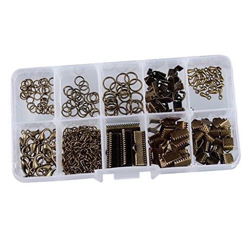 Verbindungsringe Schmuckherstellung Set Starter Kit Ohrring Armband Halsketten Schmucksachen - Bronze, 5MM-20MM