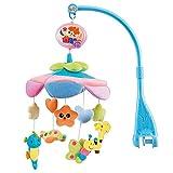 NextX B201 del bebé y de la muchacha ropa de cama cuna musical móvil con el colgante giratorio de colores suaves muñecos de peluche, Animal Amigos, caja de música eléctrica de 20 melodías juguete educativo (B201-Flash) - NextX - amazon.es