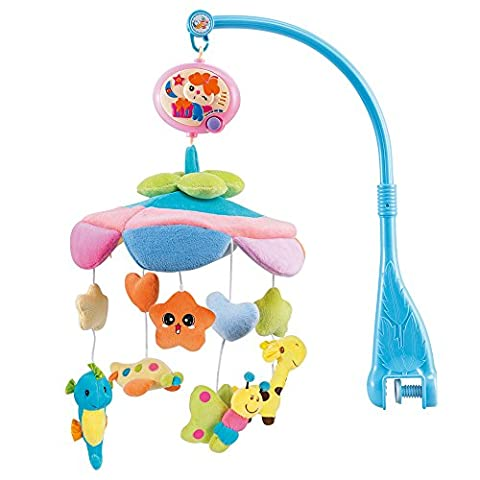 NextX Crib Musical Mobile Baby Cot Mobile Toy with Soft Colorful Plush Doll,Electric Music Box 20