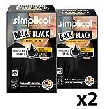 Simplicol Farberneuerung Back-to-Black, 2er Pack: Farbauffrischung und -Erneuerung in der Waschmaschine, Hautfreundlich, All-in-1 DIY Färbemischung mit Textilfarbe für Stoffe