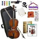 homeschool Musik–Learn To Play Viola Pack (Play Viola Heute Buch mit Audio Anleitung Pack Bundle)–Beinhaltet Student 30,5cm Viola (für ein 6–7yr. Alt) W/Fall & All Inclusive Learning Essentials