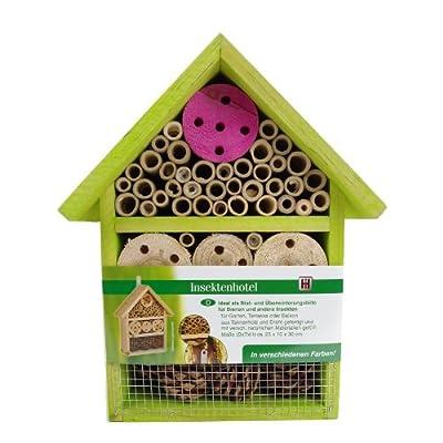 Insektenhotel Insektenhaus Bienen Florfliegen Marienkäfer Käfer Grün von Haushalt International bei Du und dein Garten