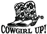 Cowgirl Up Boots Flowers - [6 inch/15 cm Wide] - Aufkleber von SUPERSTICKI® für Auto,Scheine,Lack,Motorrad,Wandtattoo,Tattoo Sticker, Autoaufkleber für alle glatten Flächen, Aufkleber ohne Hintergrund - Profi-Qualität