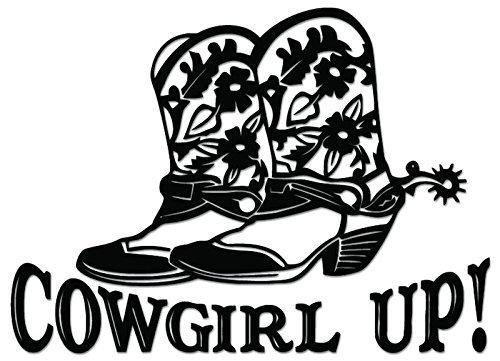 Cowgirl Up Boots Flowers - [6 inch/15 cm Wide] - Aufkleber von SUPERSTICKI® für Auto,Scheine,Lack,Motorrad,Wandtattoo,Tattoo Sticker, Autoaufkleber für alle glatten Flächen, Aufkleber ohne Hintergrund - Profi-Qualität (Cowgirl Aufkleber Sticker)