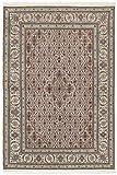 Nain Trading Indo Täbriz 210x143 Orientteppich Teppich Dunkelgrau/Beige Handgeknüpft Indien
