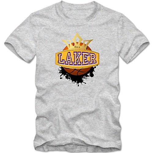 I'm a Laker #1 T-Shirt | Herren | Basketball | Play Offs | Trikot | USA | Fanshirt | Tee, Farbe:Graumeliert (Grey Melange L190);Größe:S -
