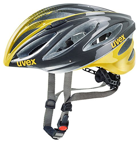 Uvex Fahrradhelm Boss Race, Anthracite-Yellow, 52-56 cm