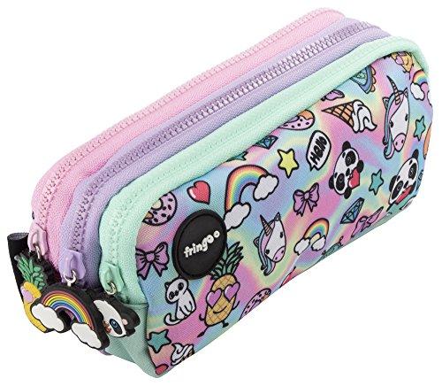 Cosw 2x Novelty Kawaii Unisex Men Women Girls Silicone Portable Banana Pencil Case Bag Coin Purse School Supplies Stationery Coin Purses