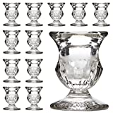 Hosley's Set of 12 Glass Taper Candle Holders - 2.5' High. Ideal Gift for...