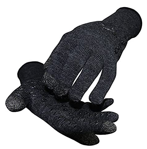 Defeet GLVETWCH001 Dura Glove Etouch Charcoal Wool XSmall