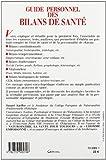 Image de Guide personnel des bilans de santé