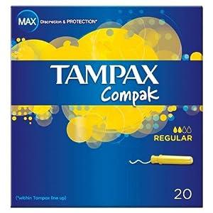 Tampax Compak Regular Applicator Tampons 20 per pack Case of 4