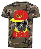 aprom Spanien T-Shirt Camouflage NC Mops Dog Hund Trikot Spain