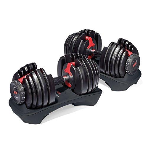 Bowflex 552i - Mancuernas ajustables de 2 kg hasta 24 kg, negro