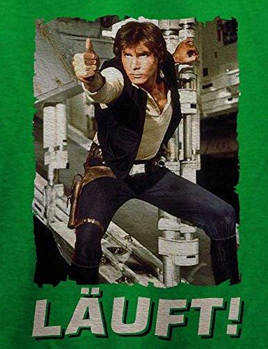 Laeuft 67 T-Shirt Grün
