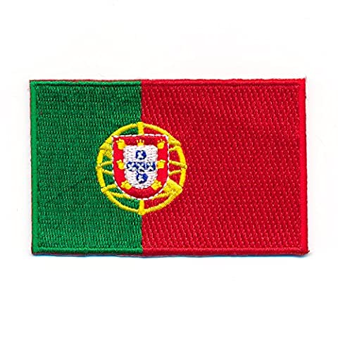 60x 35mm–Drapeau Portugal Lisbonne Madère Flag Patch écusson thermocollant 0996B